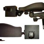 Frameco 310 armrest with single link & Iqan LC6 joystick