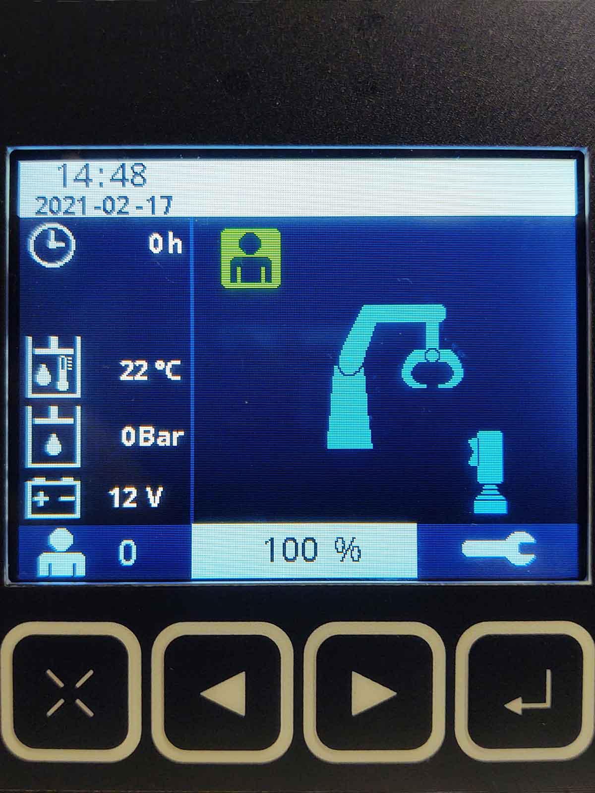xCrane TDC130 display