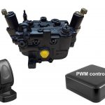Machine electronic steering components